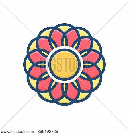 Color Illustration Icon For Mordern Nouveau Newest New Latest Recent