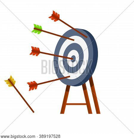Target For Arrows. Business Concept Several Attempts.