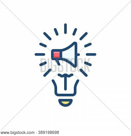 Color Illustration Icon For Marketing-idea Marketing Idea Innovation Genius Motivation Creative Insp