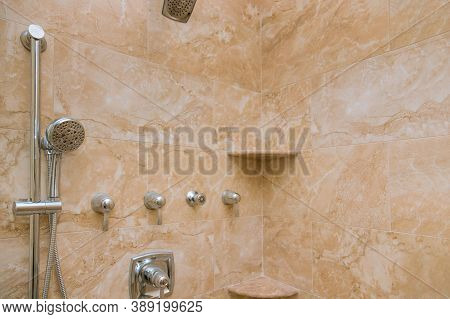 Refreshing After Remodeling Ready Bathroom With Tile To Around The Tub Shower