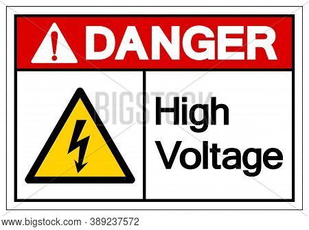 Danger High Voltage Symbol Sign, Vector Illustration, Isolate On White Background Label. Eps10