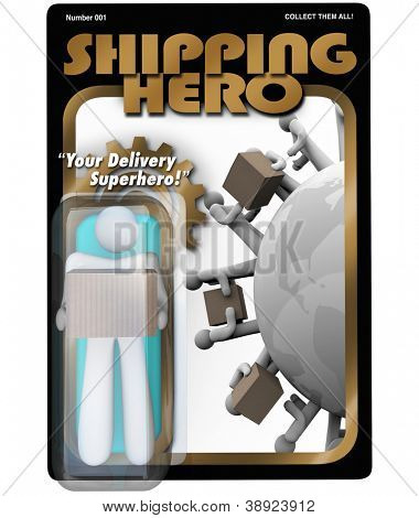 The Shipping Hero action figure delivery man shipper and receiving package