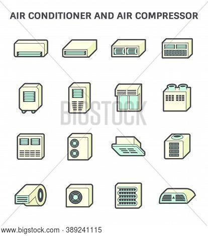 Air Conditioner And Air Compressor Or Air Condenser Unit Both Is A Part Of Cooling Function And Air