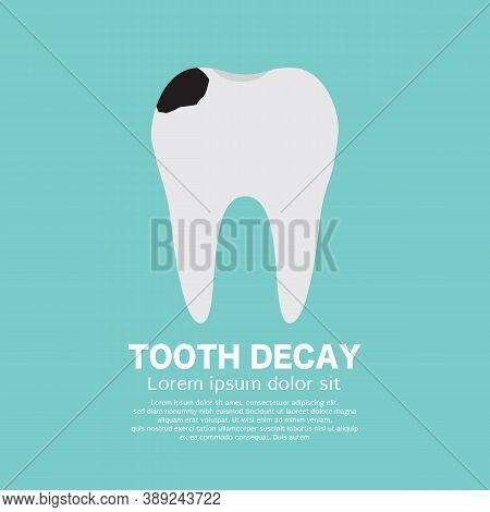 Tooth Decay Symbol Icon Healthcare Concept Vector Illustration. Eps 10