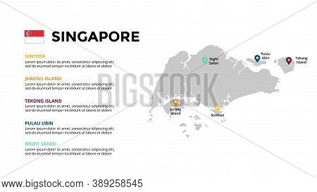 Singapore Vector Map Infographic Template. Slide Presentation. Global Business Marketing Concept. As