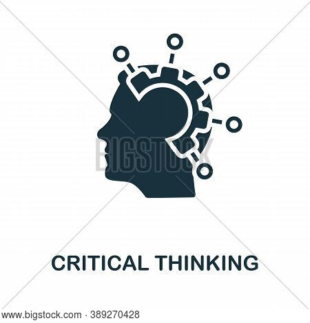 Critical Thinking Icon. Simple Element From Life Skills Collection. Filled Critical Thinking Icon Fo