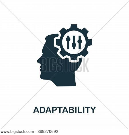 Adaptability Icon. Simple Element From Life Skills Collection. Filled Adaptability Icon For Template