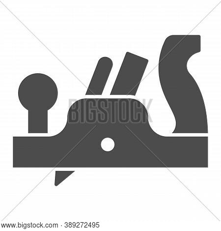 Jointer Plane Solid Icon, House Repair Concept, Retro Jack-plane Sign On White Background, Jack Plan