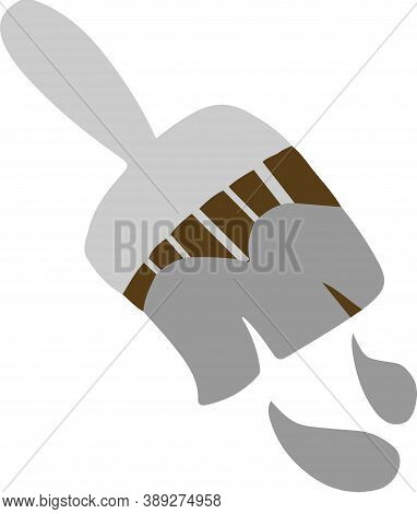 Brush Icon Isolated On White Background , Reconstruction, Renovation, Repair