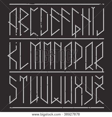 Runic alphabets, modern view.