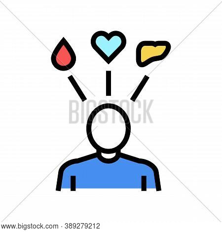 Human Need Organ Transplant Color Icon Vector. Human Need Organ Transplant Sign. Isolated Symbol Ill
