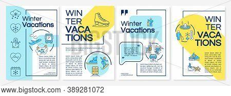 Winter Vacations Brochure Template. Spending Trip Time Ways. Flyer, Booklet, Leaflet Print, Cover De