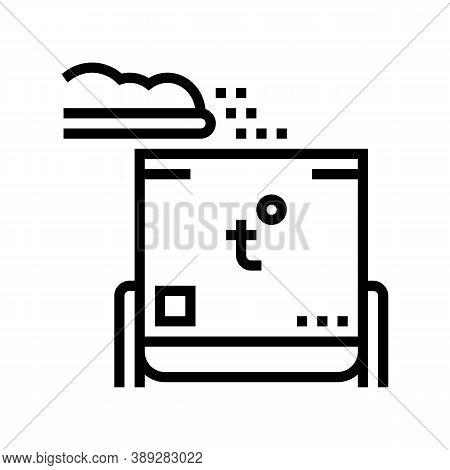 Rubbish Heating Equipment Line Icon Vector. Rubbish Heating Equipment Sign. Isolated Contour Symbol