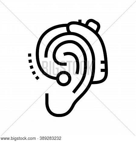 Gadget For Deaf Line Icon Vector. Gadget For Deaf Sign. Isolated Contour Symbol Black Illustration