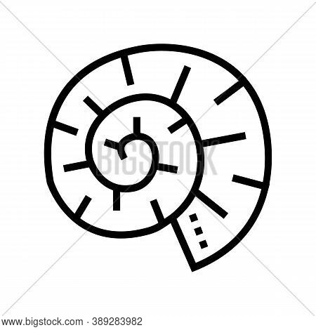 Clam Shell Line Icon Vector. Clam Shell Sign. Isolated Contour Symbol Black Illustration
