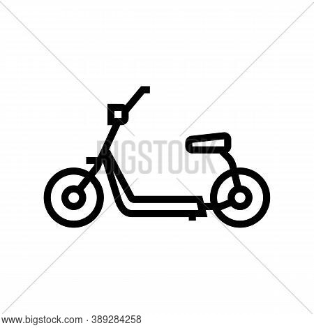 Hover Cart Line Icon Vector. Hover Cart Sign. Isolated Contour Symbol Black Illustration