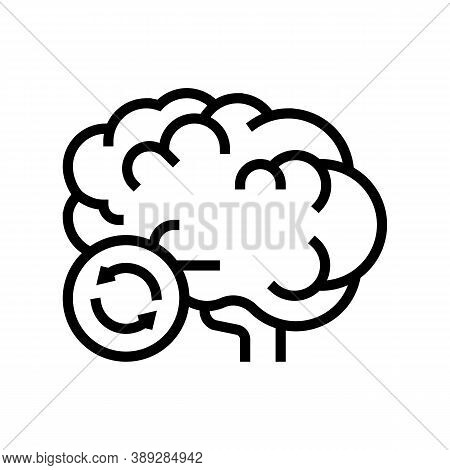 Brain Transplant Line Icon Vector. Brain Transplant Sign. Isolated Contour Symbol Black Illustration