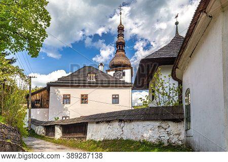 Church In The Spania Dolina Village, Slovakia, Europe.