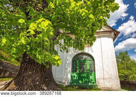 Historic Chapel In The Spania Dolina Village, Slovakia, Europe.