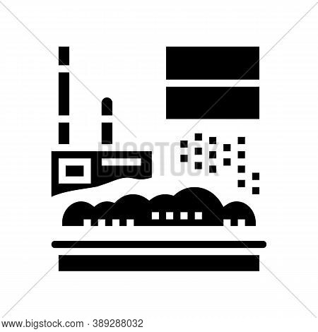 Waste Factory Equipment Glyph Icon Vector. Waste Factory Equipment Sign. Isolated Contour Symbol Bla