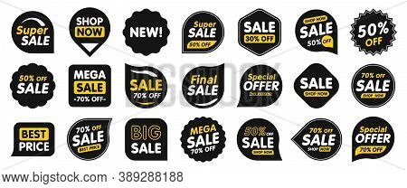 Set Of Sale Badges. Sale Quality Tags And Labels. Template Banner Shopping Badges. Special Offer, Sa