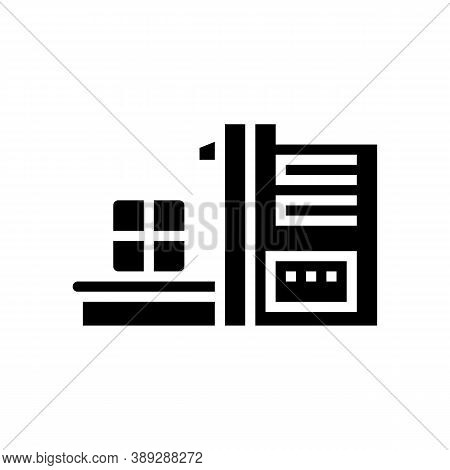 Sorting Waste Machine Glyph Icon Vector. Sorting Waste Machine Sign. Isolated Contour Symbol Black I
