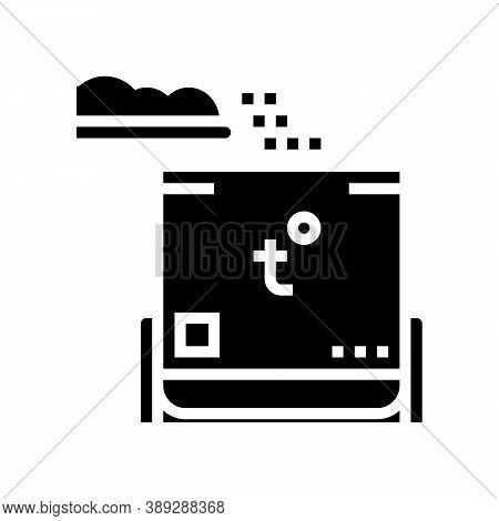 Rubbish Heating Equipment Glyph Icon Vector. Rubbish Heating Equipment Sign. Isolated Contour Symbol