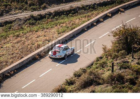 Col De San Colombano, Corsica, France - 8th October 2020: Bruno Morin & Sebastien Bruno Compete In T