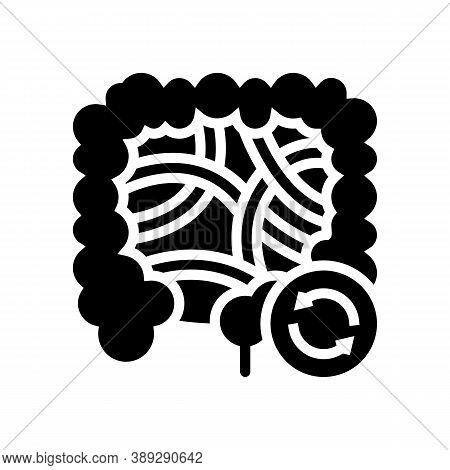 Intestines Transplant Glyph Icon Vector. Intestines Transplant Sign. Isolated Contour Symbol Black I