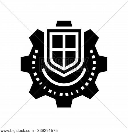 Mechanism Protection Glyph Icon Vector. Mechanism Protection Sign. Isolated Contour Symbol Black Ill