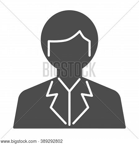 Scientist Solid Icon, Science Concept, Chemist Sign On White Background, Scientist Avatar Icon In Gl