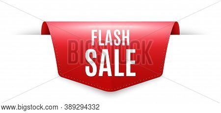 Flash Sale. Ribbon Label Tag. Special Offer Price Sign. Advertising Discounts Symbol. Infographics P