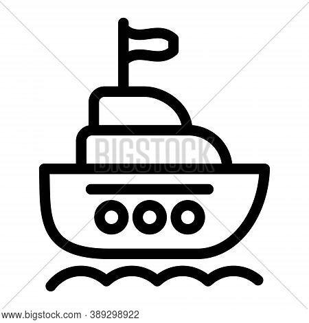 Ship Icon. Yacht Icon. Cruise Ship, Ocean Liner, Vessel Symbols. Sea Cargo Delivery, Sea Transport S