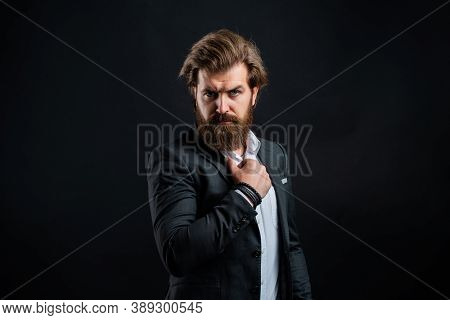 Representation Modern Successful Man Business Career, Motivated For Success Concept