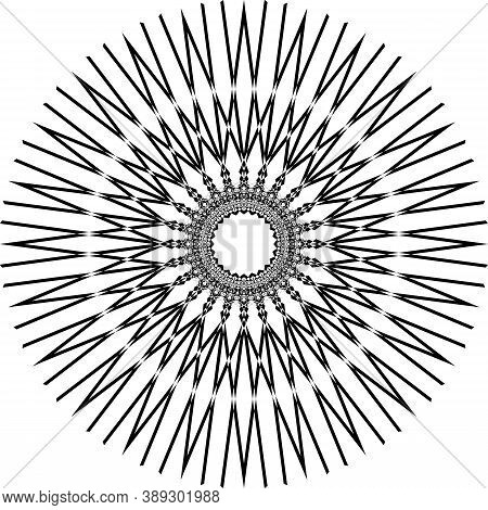 Abstract Arabesque Stellar Structurte Ceiling Like Perspective Negative Space Design Black On Transp