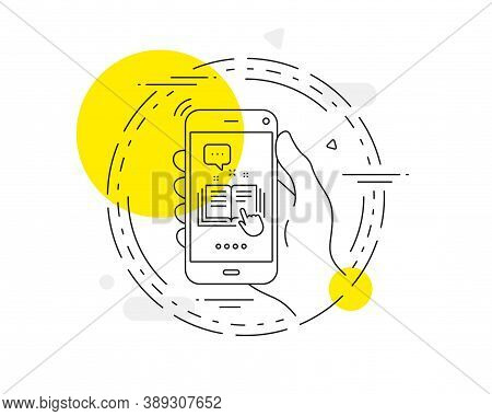 Technical Documentation Line Icon. Mobile Phone Vector Button. Instruction Sign. Technical Documenta