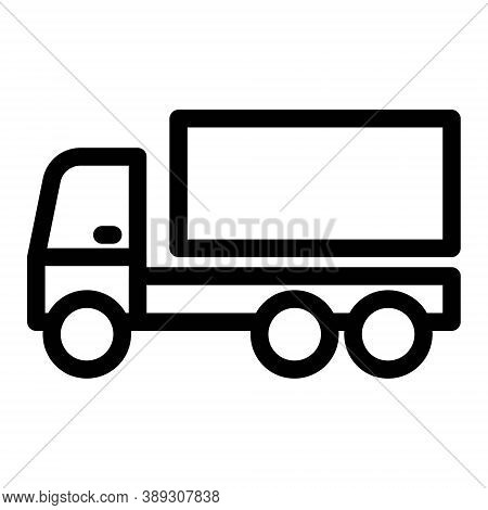 Truck Icon. Delivery Van, Lorry Sign. Shipping, Cargo Transportation Sign.