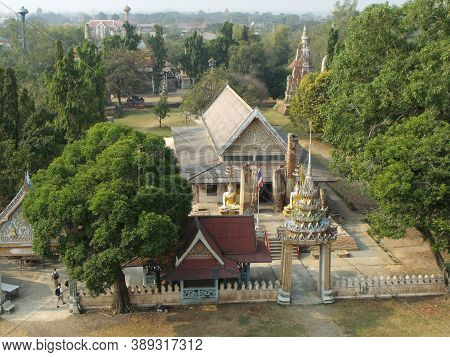 Ayutthaya, Thailand, January 24, 2013: Buddhist Temple In Ayutthaya, Former Capital Of The Kingdom O
