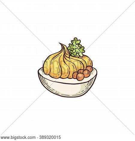 Deviled Egg Drawing - Gourmet Starter Food Or Appetizer Filled Stuffing