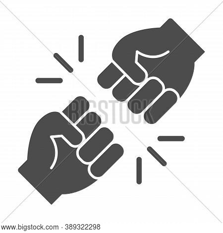 Struggle Between Whites And Blacks Solid Icon, Black Lives Matter Concept, Blm Racial Fight Sign On