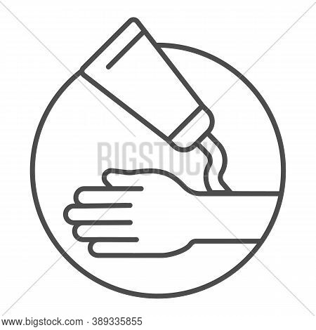Ointment And Hand Thin Line Icon, Health And Medical Concept, Hypoallergenic Cream Sign On White Bac