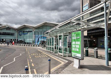 Birmingham, Uk - April 19, 2013: Travelers Visit Birmingham International Airport, Uk. With 8.9 Mill