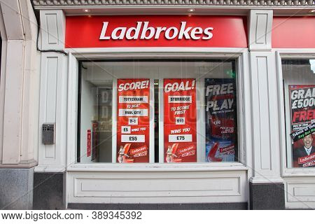 Birmingham, Uk - April 19, 2013: Ladbrokes Betting And Gaming Shop In Birmingham, Uk. Ladbrokes Has