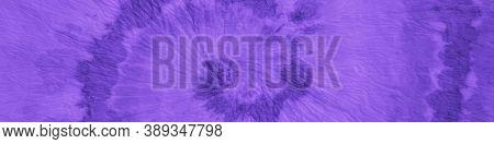 Shibori Tie Dye. Royal Ink Painted Spiral. Abstract Aquarelle Poster. Paintbrush Artwork. Panoramic