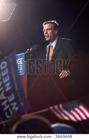 Fmr. Gov. Mark Warner At Obama Rally