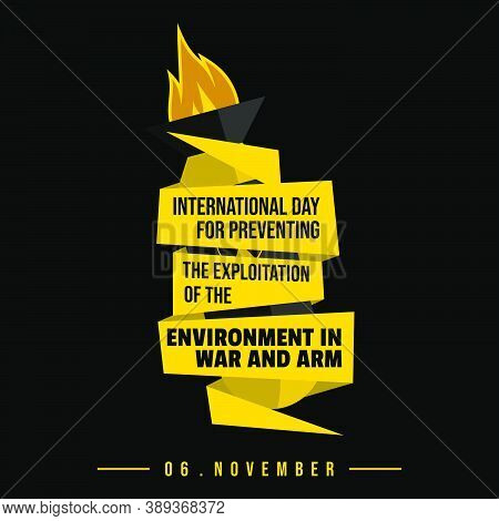 Typography Design Of International Day For Preventing The Exploitation Of The Environment In War And