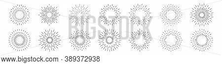 Set Of Sunburst Collection. Vector Illustration Eps10