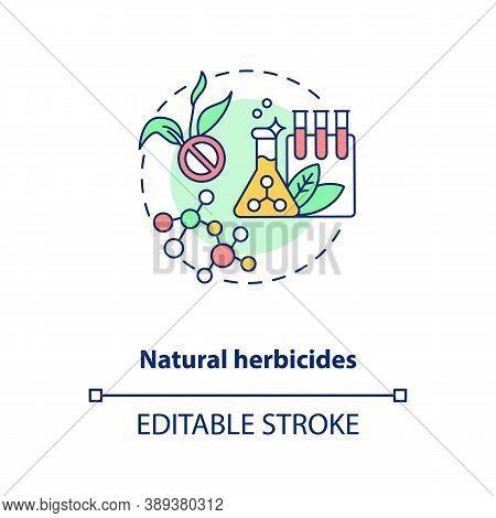 Natural Herbicides Concept Icon. Organic Farming Principles. Organic Gardening Spray. Field Protecti