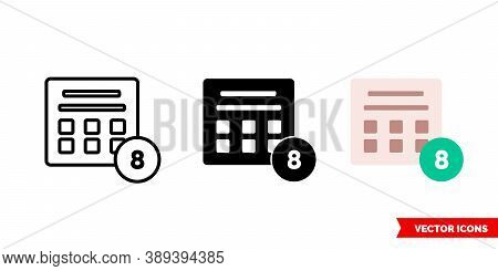 Sweepstakes Icon Of 3 Types Color, Black And White, Outline. Isolated Vector Sign Symbol.