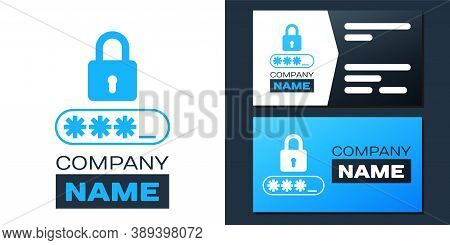 Logotype Password Protection And Safety Access Icon Isolated On White Background. Lock Icon. Securit